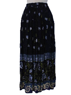 1990's Womens Hippie Style Broomstick Skirt