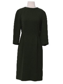 1950's Womens Fab Fifties Wiggle Cut Wool Dress