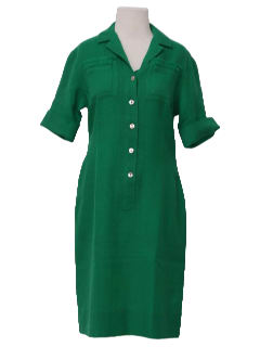 1960's Womens Mod Wool Shirt Dress