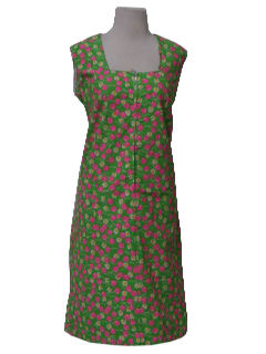 1960's Womens Mod A-Line Day Dress