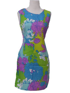 1960's Womens Mod A-line Tank Dress