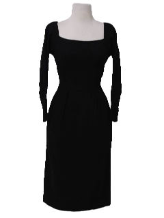 1950's Womens Fab Fifties Little Black Wiggle Dress