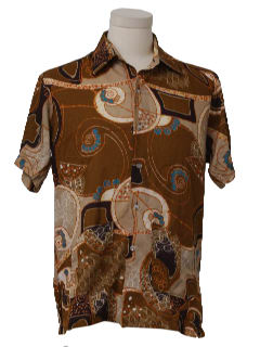 1970's Mens Late Mod Hawaiian Shirt