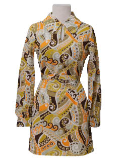 1960's Womens Mod Mini Dress or Tunic Shirt