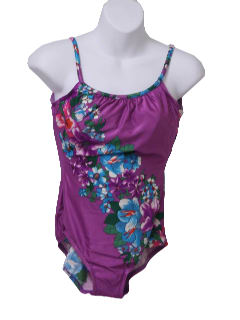 1980's Womens Totally 80s Hawaiian Swimsuit