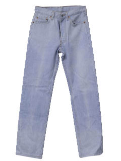1980's Mens Totally 80s Stone Washed Levis Jeans Pants