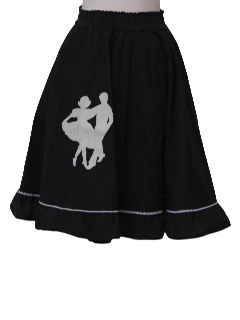 1960's Womens Square Dancing Circle Skirt
