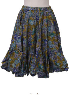 1980's Womens Square Dancing Circle Skirt