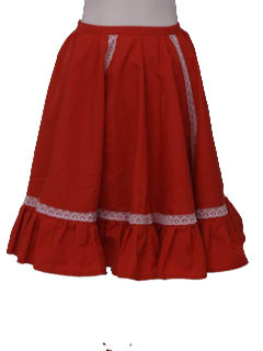 1970's Womens Square Dancing Skirt