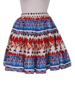 1980's Womens South Western Square Dancing Skirt