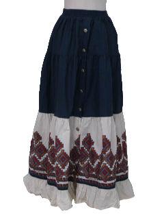1980's Womens Western Skirt