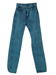 1980's Womens Totally 80s Stone Washed Over Dyed Jeans Pants