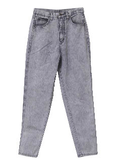 1980's Womens Totally 80s Stone Washed Jeans Pants