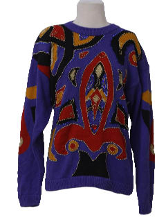 1980's Womens Totally 80s Cocktail Sweater
