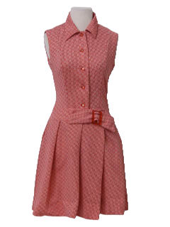 1960's Womens Mod Designer Dress