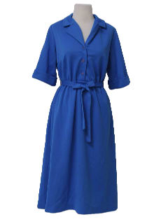 1960's Womens Knit House Dress