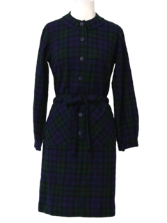 1950's Womens Wool New Look Day Dress