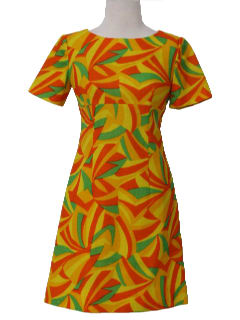 1960's Womens/Girls Mod Wool Mini Dress