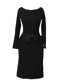 1950's Womens Fab Fifties Wool Sheath Dress