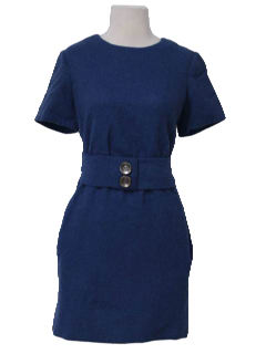 1960's Womens Mod Mohair Day Dress