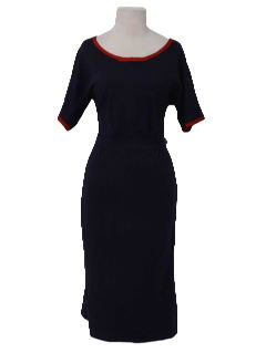 1950's Womens Fab Fifties Wool Day Dress