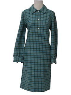 1960's Womens Wool House Dress
