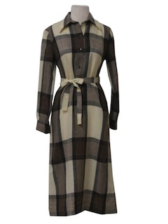1970's Womens Wool House Dress