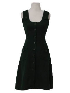 1950's Womens Wool Romper Day Dress