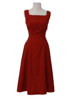 1940's Womens Fabulous Forties Wool Day Dress
