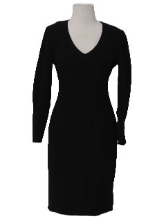 1990's Womens Wicked 90s Wool Sheath Dress