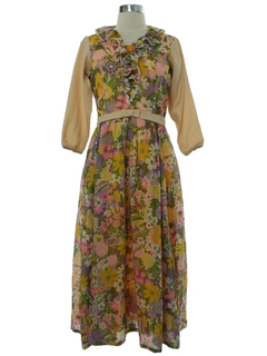 1970's Womens Early Prairie Dress