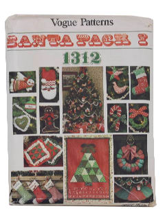 1970's Ugly Christmas Craft Pattern