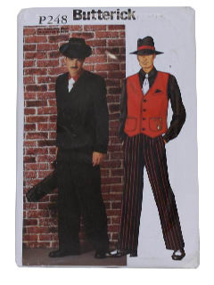 1990's Mens Costume Pattern