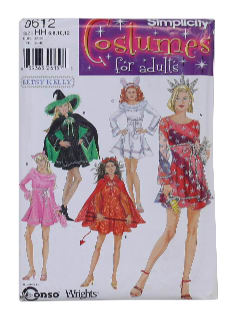 1990's Womens Costume Pattern