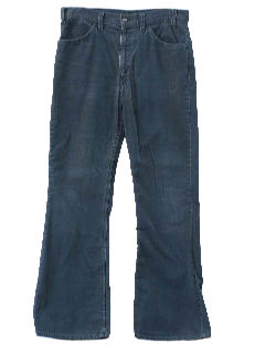 1970's Mens Jeans-Cut Corduroy Bellbottom Pants