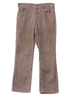 1970's Mens Jeans-Cut Corduroy Flared Pants