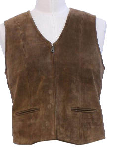 1990's Mens Leather Vest