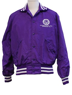1960's Mens Baseball Style Racing Jacket