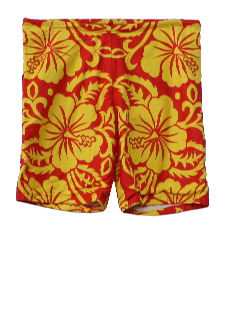 1970's Mens Hawaiian Board Shorts