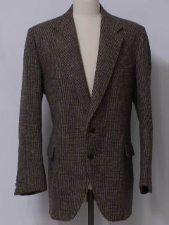 1980's Mens Harris Tweed Blazer Style Sport Coat Jacket