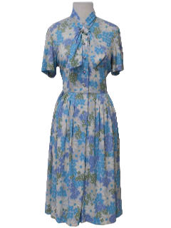 1960's Womens Mod Floral Dress