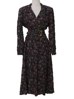 1980's Womens Totally 80s Floral Elaine (Seinfeld) Dress