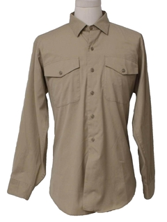 1970's Mens Work Uniform Shirt