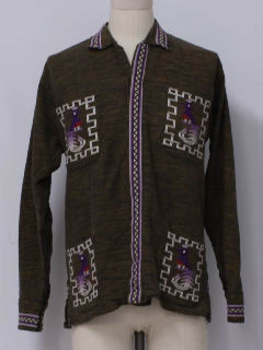 1980's Mens Guatamalen Hippie Shirt