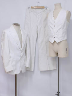 1970's Mens White Disco Suit