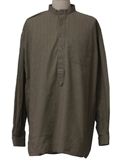 1990's Mens Late 1800s Style Reproduction Western Shirt