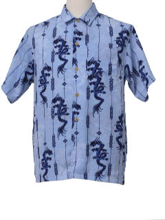 1990's Mens Hawaiian Style Dragon Shirt