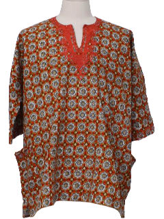 1980's Mens Dashiki Style Hippie Shirt