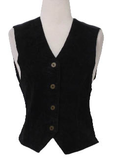 1990's Womens Wicked 90s Leather Vest