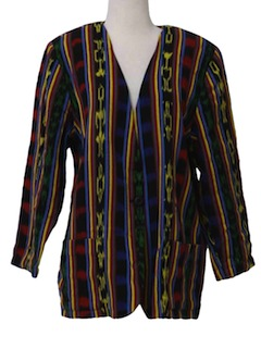 1980's Womens Hippie Blazer